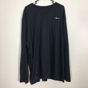 Nike Dri-Fit Black Long Sleeve 4XL